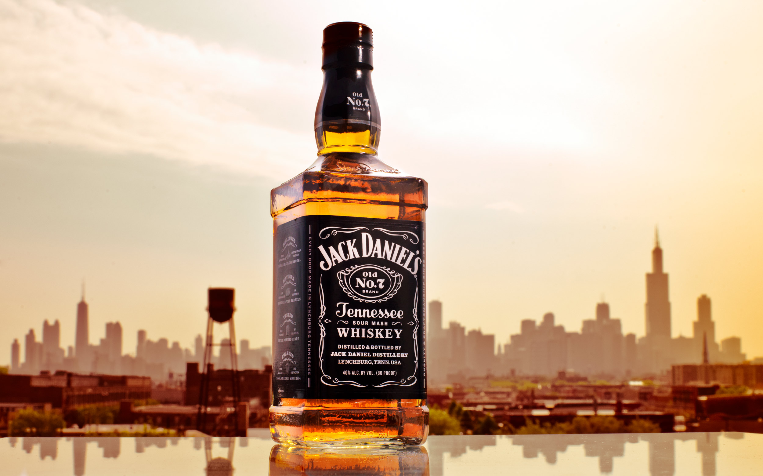 Jack Daniels with Chicago Skyline