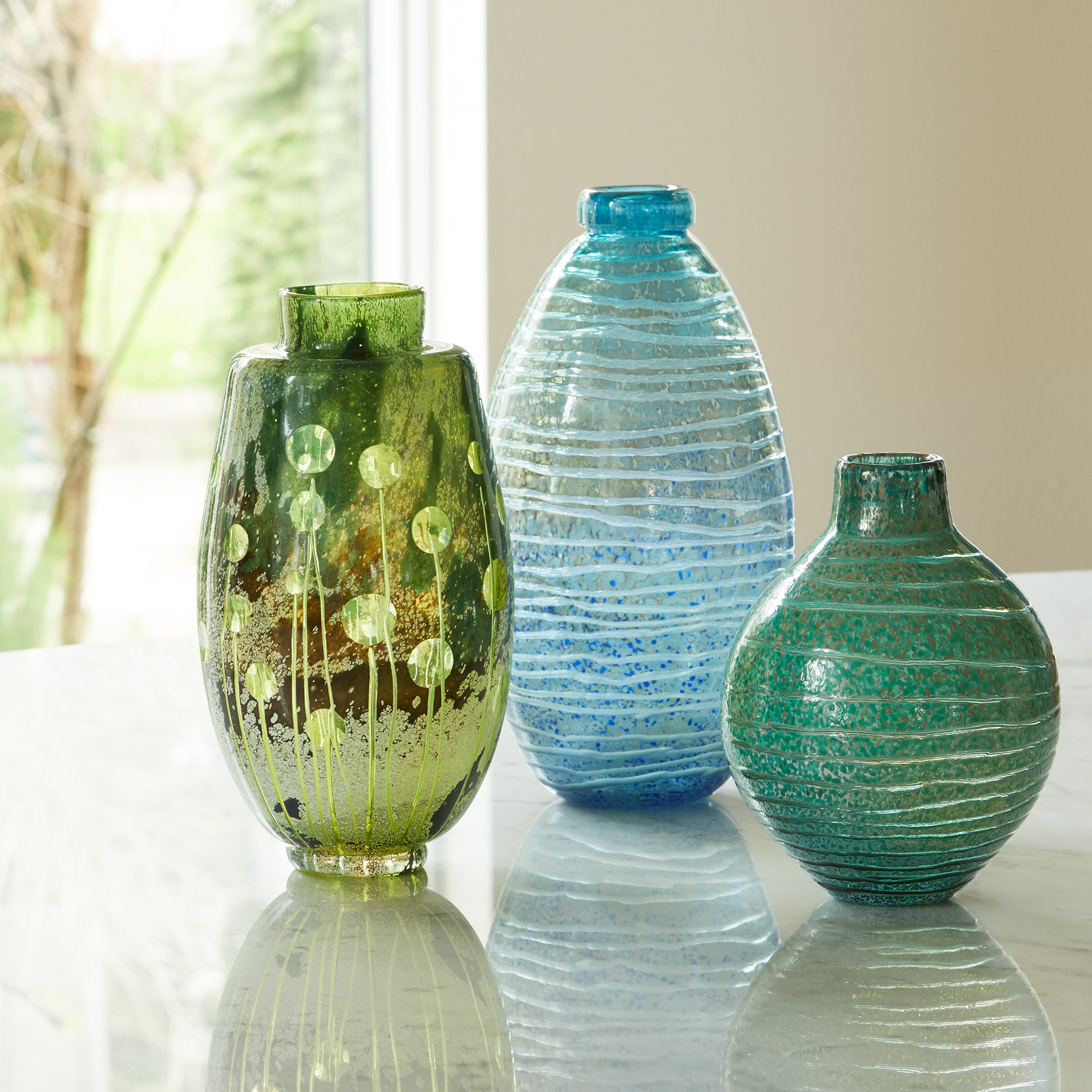 Jones Glass Vases for Artful Home