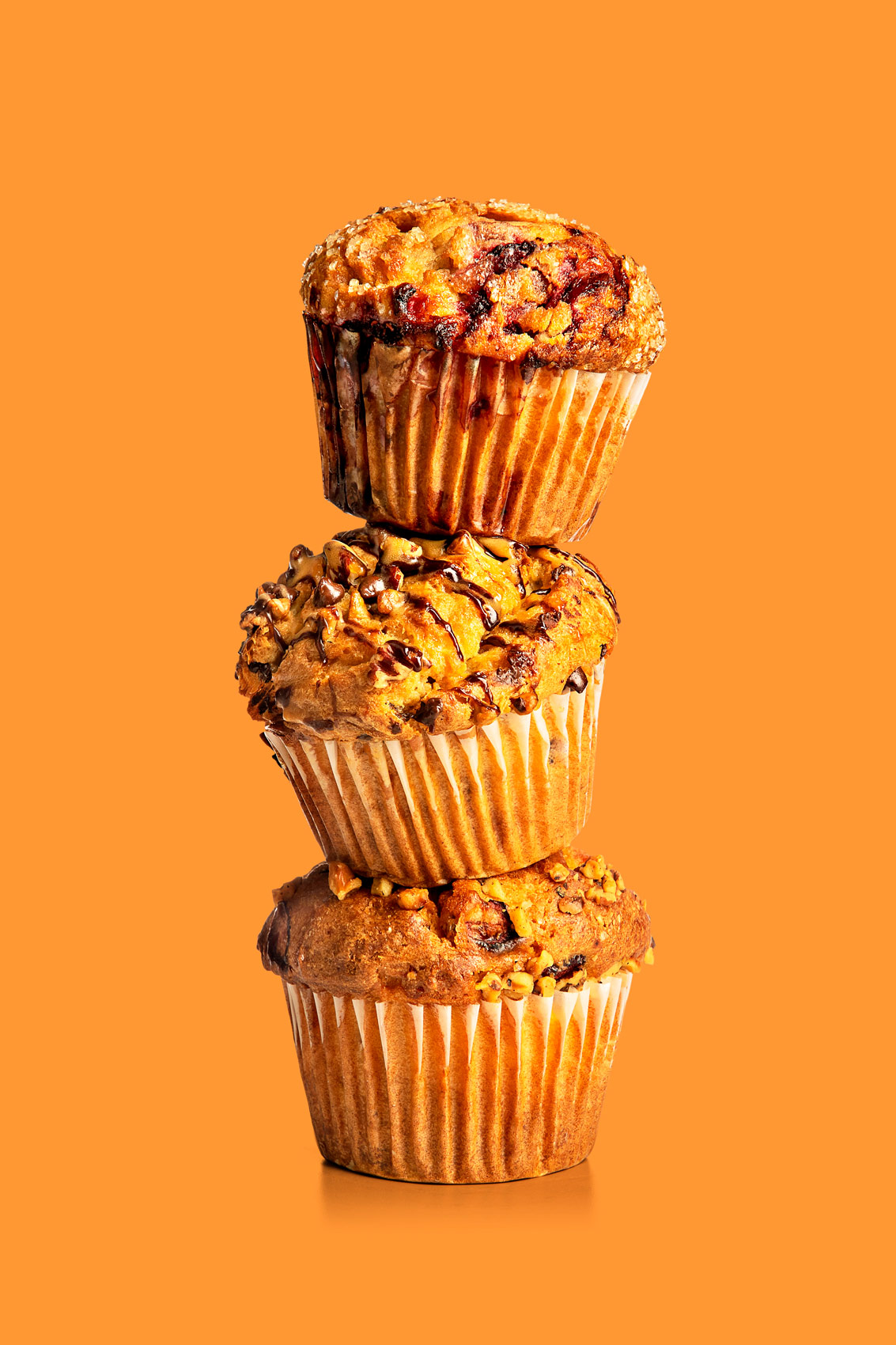Muffin stack for Festival Foods