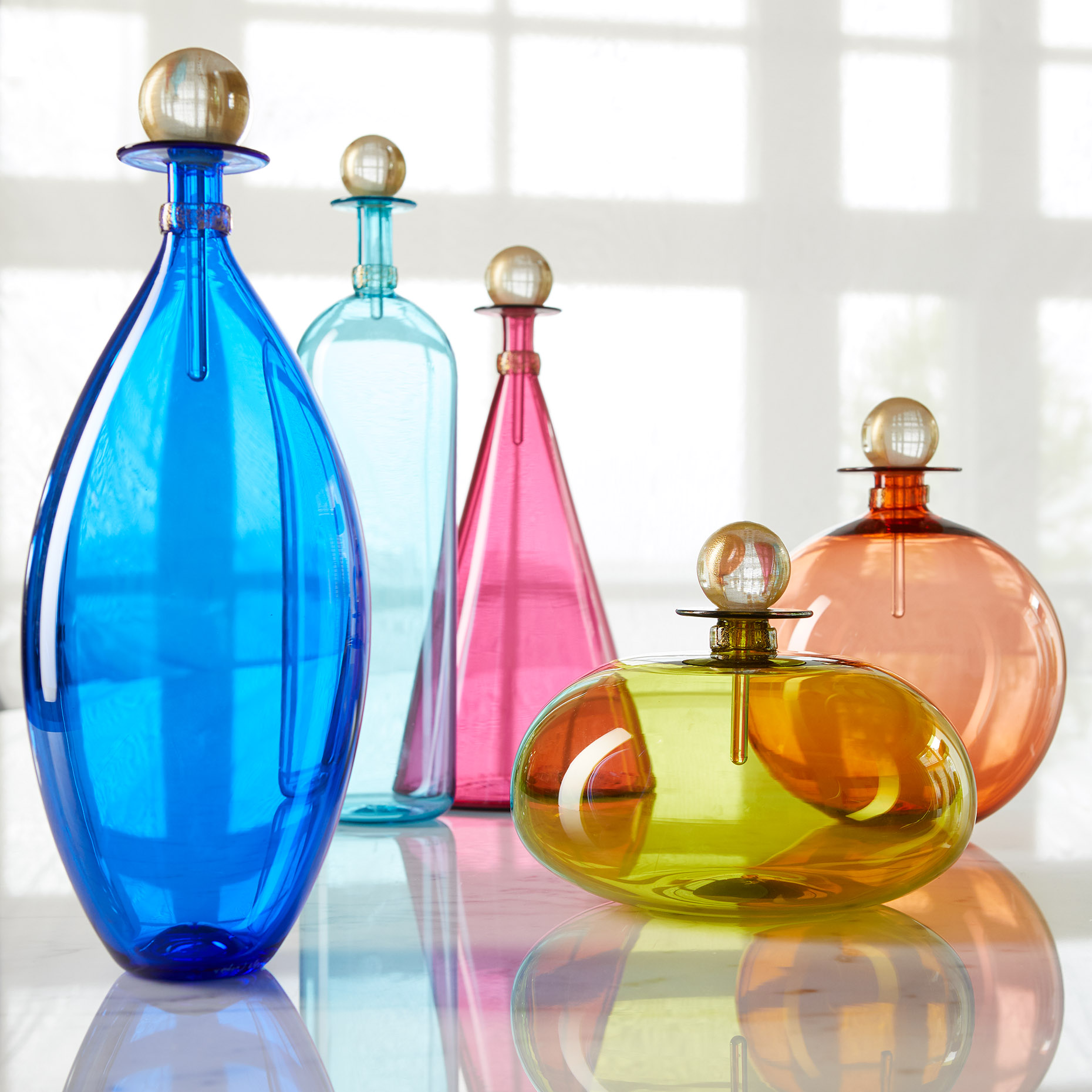 Vetrovero bottles for Artful Home